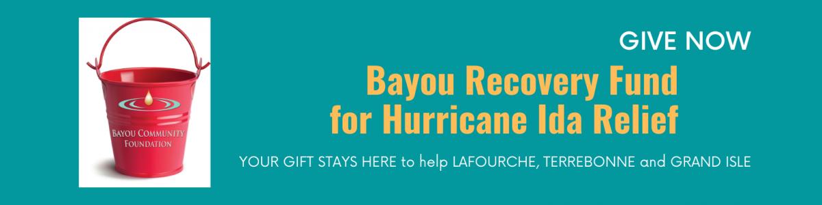 Website Banner Hurricane Ida Bayou Recovery Fund